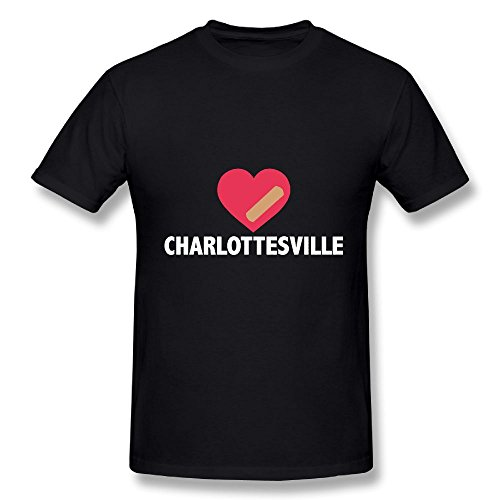 Heart Love Charlottesville Virginia 100% Cotton Short Sleeve T-shrit Graphic Cloths For - Men's Charlottesville Clothing