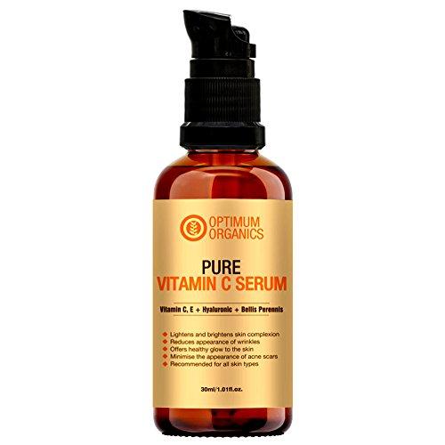 Optimum Organics Vitamin C Serum with Hyaluronic Acid 30% for Face 30ml product image