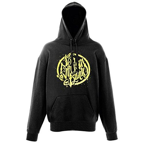 187 Straßenbande - Logo Hoodie schwarz/gelb