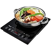 """Rosewill Induction Cooker 1800 Watt, 5 Pre-Programmed Induction Cooktop, Electric Burner with Stainless Steel Pot 10"""" 3.5 QT 18-8, RHAI-15001"""