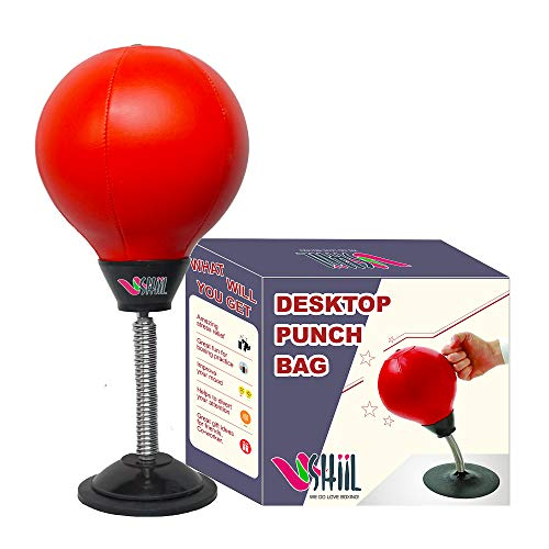 Desktop Punching Bag with Stand – Stress Buster Relief for Adults – Desk Punch Office Toys and Gadgets for Woman and Men