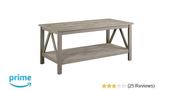 Amazon Com Linon 86151gry01u Titian Industrial Gray Coffee Table