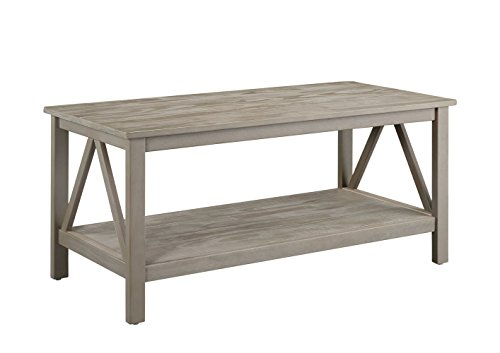 tian Industrial Coffee Table, Gray (Linon Console Table)