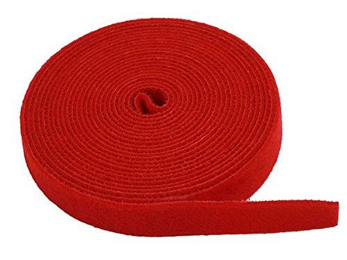 Monoprice Hook & Loop Fastening Tape 5 Yard/roll, 0.75-inch - Red (105831)