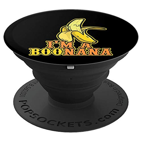 Halloween Food Banana Ghost (I'm a Boonana Banana Ghost Boo Food Halloween Costume PopSockets Grip and Stand for Phones and)