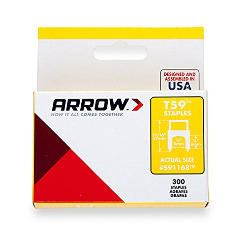 Arrow Fastener 591168 1/4-Inch T59 Insulated Staple, Clear, Single Pack by Arrow Fastener