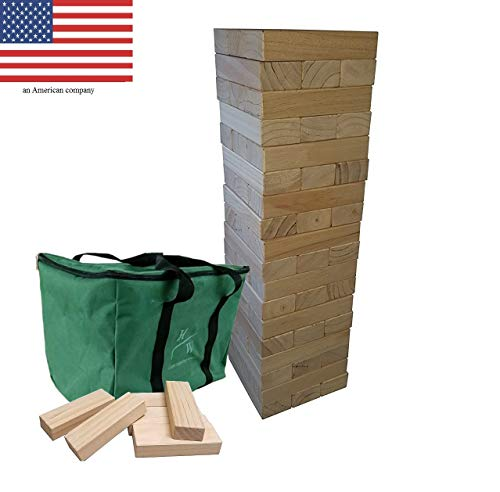 Game Of Life Sheets - Yard Games - Giant Toppling Tower Large Wood Stacking Outdoor Yard Game Wooden Life Size