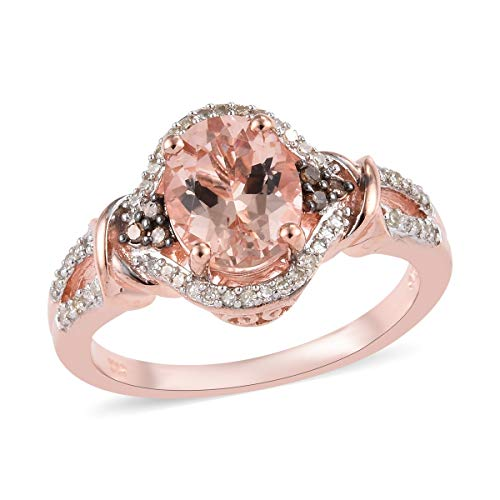 5 Ct Diamond Rings - Oval Diamond Solitaire Ring 925 Sterling Silver Vermeil Rose Gold Jewelry for Women Size 5 Ct 2.1