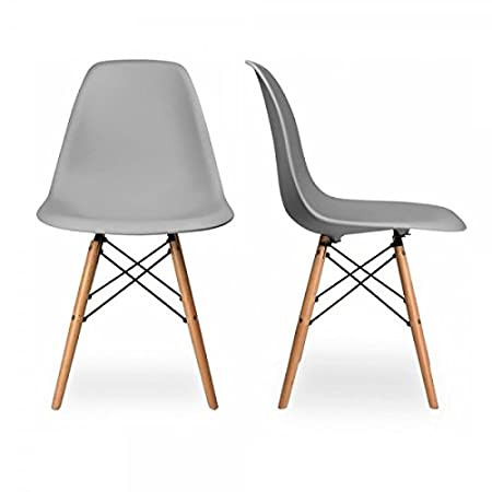Set Chairs Grey Two DSW Replica Charles Cool of Eames QdWrxBECeo
