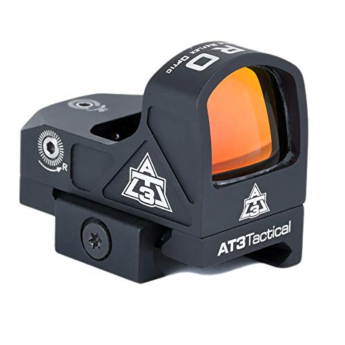 AT3 Tactical ARO Micro Red Dot Sight – Direct Mount, Low Mount, Optional Riser Mount – 3 MOA Compact Reflex Sight