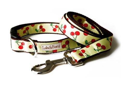 "Lola & Foxy Lemon Cherry Dog Leash, 1"" Wide, 5ft. Long"