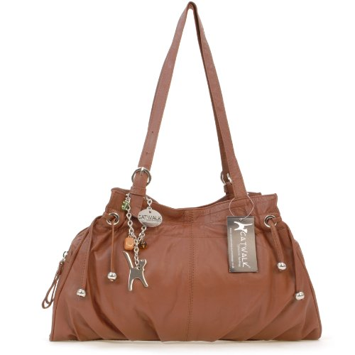 en Collection cuir Alice main Marron signé Sac à Catwalk T6ZzWqR