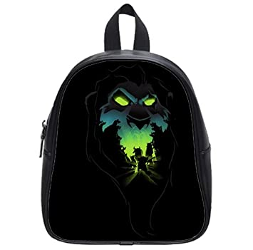 Trippy Lion Face Black Wallpaper Backpack Kid S School Bag 13 Inch