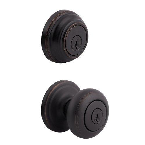 Kwikset Signature Series 99910-035 Venetian Bronze Single Cylinder Entry Knob & Deadbolt Combo