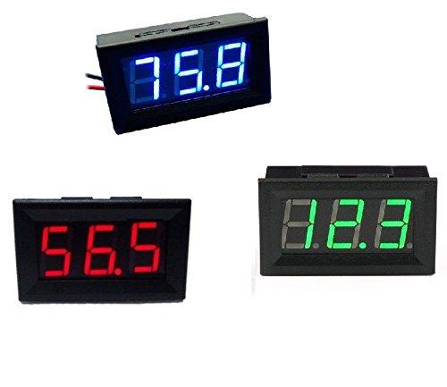 Blue/Red / Green LED Panel Meter Mini Digital Voltmeter DC 0V To 99.9V (Blue)