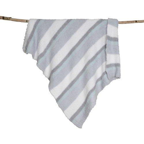UPC 808460567411, Barefoot Dreams Multi Stripe Stroller Blanket, White/Ocean/Aqua Ice/Blue