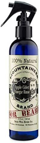 Apple Cider Vinegar Hair Rinse 8oz by Mountaineer Brand | All-Natural pH-Balanced Relief for Detox, Dandruff, Itching, Acne, Blemished Skin | Use on Hair, Beard, Scalp, and Face