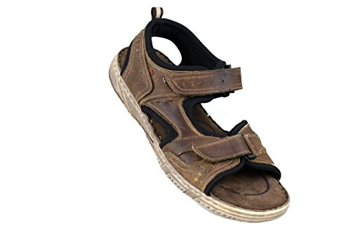 Estivi di Sandali Trekking da Sandali Sandali Uomo da Uomo da Sandals Hiking Cuoio da da Zerimar Man Uomo Uomo Marron Sandali wqA7FX