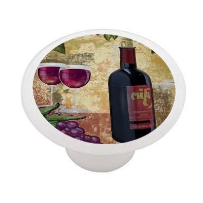 - Grape Wine Decorative High Gloss Ceramic Drawer Knob