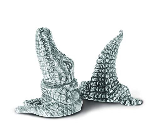 Vagabond House Pewter Metal Alligator Salt and Pepper Shaker Set - 3