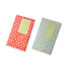 FOME 84 Pockets 2pcs Fujifilm Bundle Set Lovable Mini Polaroid Photo Album for Fujifilm Instax Mini 7S 8 25 50S Films - Red + Light Green Bird