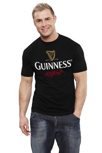 guinness-black-large-signature-print-round-neck-t-shirt-xxx-large