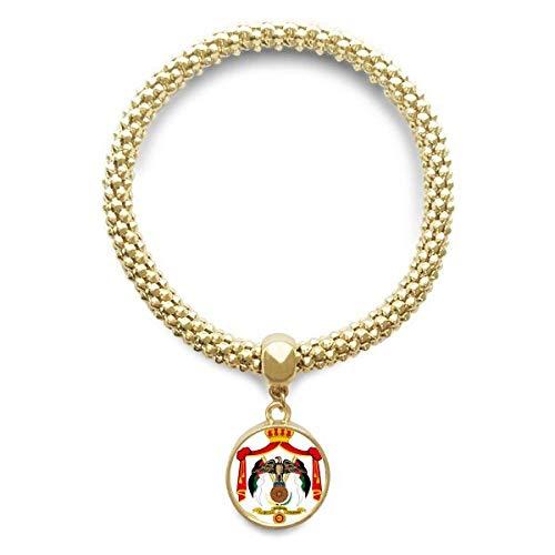 DIYthinker Jordan Asia National Emblem Golden Bracelet Round Pendant Jewelry Chain by DIYthinker