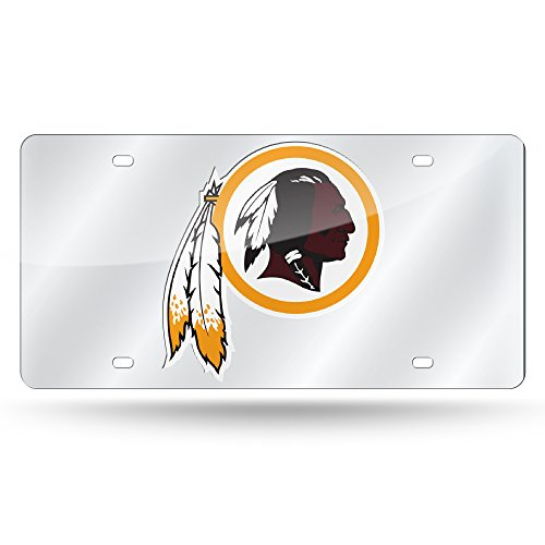 NFL Washington Redskins Laser Cut Auto Tag, Silver ()