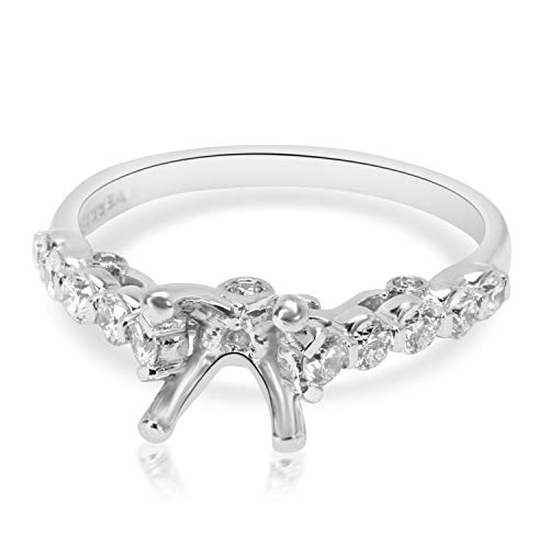 - Verragio Cathedral Diamond Engagement Ring Setting in 18K White Gold 0.37CTW