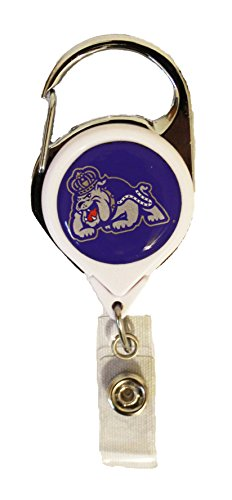 WinCraft James Madison University Dukes Premium Badge Reel Id Holder (Button Cord Reel)