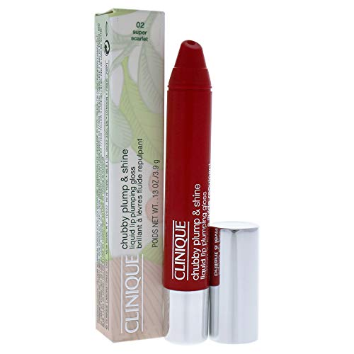- Clinique Chubby Plump and Shine Lip Gloss, 02 Super Scarlet, 0.13 Ounce