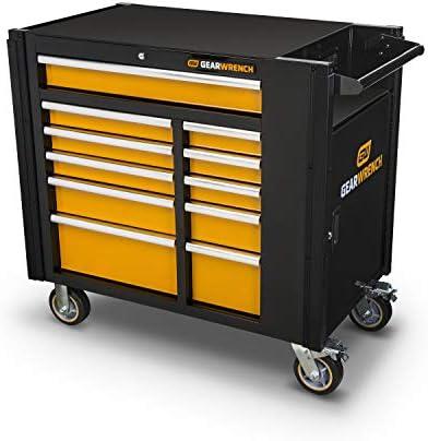 GEARWRENCH 42 11 Drawer Mobile Work Station, Black Orange – 83169
