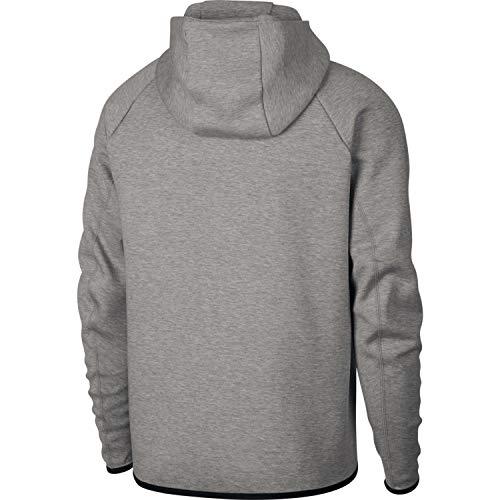 Felpa Heather Tech Grey Fleece Con nero Nike Sportswear nero Cappuccio Uomo Dk wBOUqnFt57