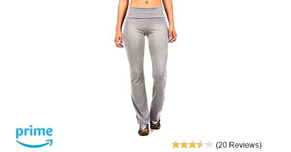 8666376f3c ToBeInStyle Women's Elastic Exercise Sweatpants w/Fold-Over Waistband at  Amazon Women's Clothing store: