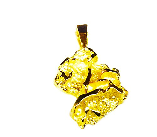TEX 14K Yellow Gold Nugget Design Fashion Charm Pendant 4 - Pendant Jewelry Nugget Charm