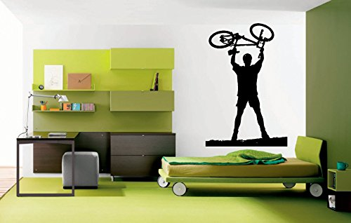 Wall Decal Sticker Bedroom bmx bicycle bike Kids Girls Bo...