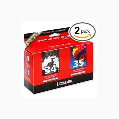 Genuine Lexmark #34/35 Twin Pk Blk&Clr Hi-Yield Cartridge s (X5340) Per Pack