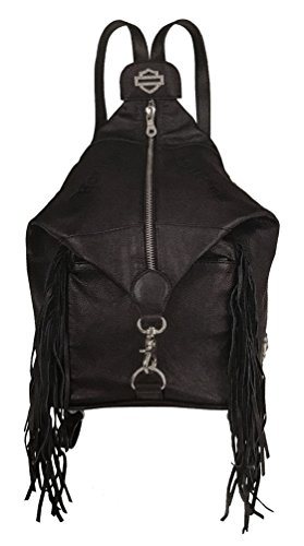 Harley-Davidson Womens Raven Convertible Genuine Leather Backpack (Harley Davidson Convertible)