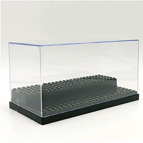 Fairbridge Acrylic Display Case/Box 2 Steps Perspex Dust proof Show LEGO Minifugures and Vinylmation 84.24 inch store up to 28 LEGO minifigures (Lego Display)