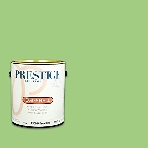 Prestige, Greens and Aquas 3 of 9, Interior Paint and Primer In One, 1-Gallon, Eggshell, Happy Go Lucky