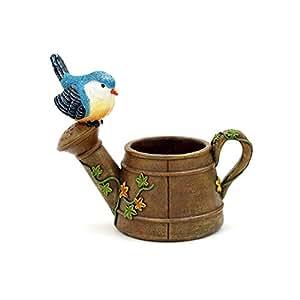 Esperar volar, diseño de pájaro en la regadera forma eco-resin jardinería macetas para flores de cactus suculentas decoración para decoración de casa jardín