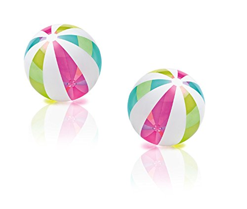 2 Pack - Intex Jumbo Inflatable Glossy Panel New Colors Giant Beach Ball 42