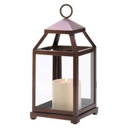 Bronze Contemporary Candle Lantern by FindingKing