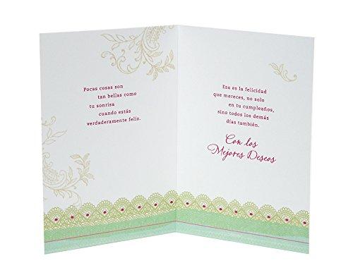 Amazon hallmark vida spanish birthday greeting card floral amazon hallmark vida spanish birthday greeting card floral with butterfly office products m4hsunfo