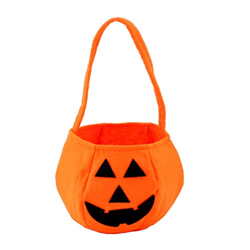 Adisaer Halloween Pumpkin Candy Hand Bags Trick or Treat Bags Felt Bags with Handle for Kids Halloween Costume Party