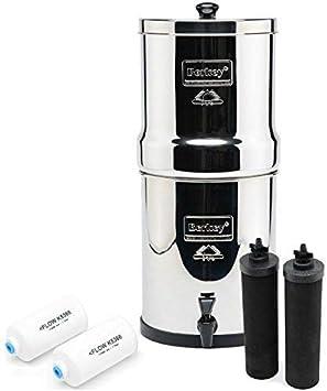 Big Berkey Water Filter Purifier with 2 Black Berkey Elements
