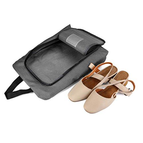 Hunpta Portable Travel Schuhbeutel Zip View Fenster Pouch Storage wasserdicht Organizer Schwarz