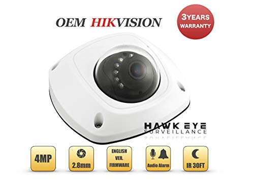 4MP PoE Wireless Security IP Camera - Mini Dome,Indoor and Outdoor,Wide Angle 2.8mm Lens,Built in WiFi,Microphone Audio, Alarm I/O Compatible as Hikvision DS-2CD2542FWD-IWS 3 Year Warranty