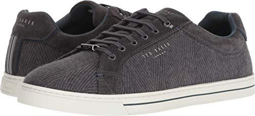 Ted Baker Men's Werill Herringbone Dark Grey Trainers Sneakers Shoes Sz: 13