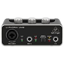 Behringer UM2 2x2 USB Audio Interface with XENYX Mic Preamplifier